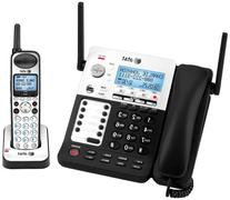 AT&T SB67118 DECT 6.0 Corded/Cordless Phone, Black/Silver, 1