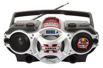 Supersonic SC1395RD USB/SD/AUX/Radio Portable Audio Player,