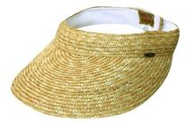 Dorfman Pacific Ladies Scala Braided Straw Visors Cream