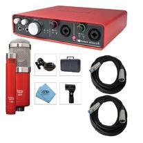 Focusrite Scarlett 6i6 USB Audio Interface with MXL 550/551R