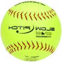 SChampro Game ASA Slow Pitch Softball, Poly Synthetic Cover