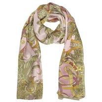 Mila Schon Designer Long Scarves Ornamental and Pattern
