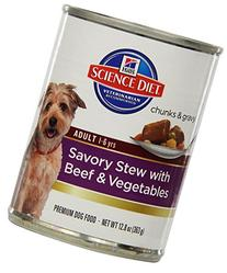 Hill's Science Diet Adult Savory Stew with Beef & Vegetables