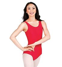 Adult Scoop Tank Dance Leotard,D5101WHTP,White,Petite