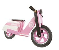 Kiddimoto Kids Scooter Wooden Balance Bike - Pink Stripe