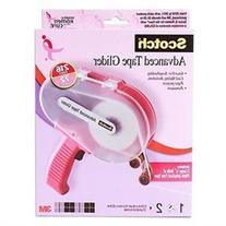 Scotch Advanced Tape Glider & Tape - Pink - 0.25 x 36yd Each