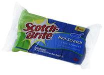 Scotch-Brite Scrub Sponge, Non-scratch, 9-Count
