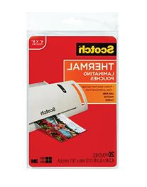 Scotch Thermal Laminating Pouches, 4.37 Inches x 6.36 Inches