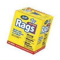 Scott Rags In A Box , White, 200 Shop Towels per box, Case