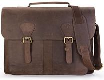 LEABAGS Scottdale genuine buffalo leather briefcase in