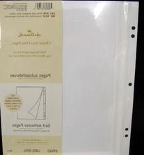 Hallmark Scrapbook Pages AR 6555 Self - Adhesive Pages For