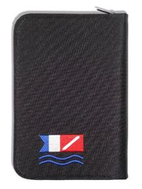 Scuba Diving Log Book - Black with Diver Down Alpha Flag