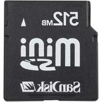 SanDisk miniSD Card SDSDM-512-A10M 512MB Mini SD Card