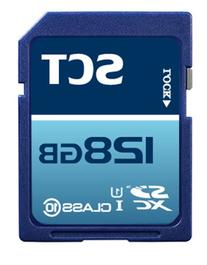 SCT 128GB SD XC Class 10 UHS-1 Flash Memory Card with SoCal