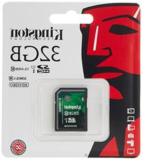 Kingston Digital 32 GB SDHC/SDXC Class 10 UHS-1 Flash Memory