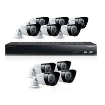 SDS-P5101N Samsung 16 Channel DVR System with 10 Cameras, 1TB HDD