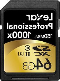 Lexar Professional 1000x 64GB SDXC UHS-II Card