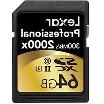Lexar Professional 2000x 64GB SDXC UHS-II/U3  w/USB 3.0