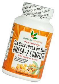 Sea Buckthorn Oil Blend, Omega-7 Complete, 120-Softgels