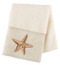 Avanti Sea Treasure Wash Cloth, Ivory