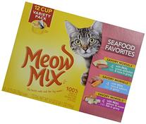 Meow Mix Seafood Favorites Variety Pack Wet Cat Food, 2.75-