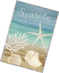"Seaside Summer Garden Flag Beach Seashells Nautical 12.5"" x"