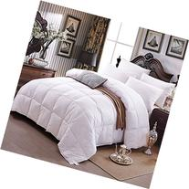 Zoom All Season Goose Down Alternative Comforter, White, 100