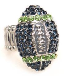 Seattle Fan Jewelry Blue & Green Rhinestone Women's Girls