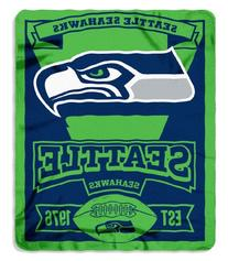 NFL Seattle Seahawks Marque Printed Fleece Throw, 50-inch by