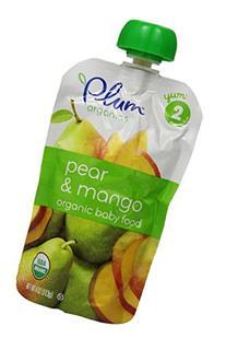 Plum Organics Baby Second Blends Food, Pear/Mango, 4 Ounce