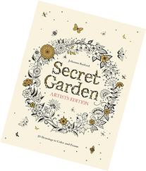 Secret Garden Artist's Edition: 20 Drawings to Color and