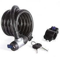 Etronic  Security Lock M8K Self Coiling Keyed Cable Lock, 6-