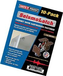 SeismoLatch Automatic Earthquake Activated Cabinet Latch Brown 10-Pack