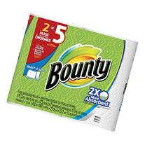 Bounty Select-A-Size Paper Towels, White, 2 Huge Rolls