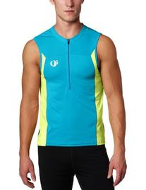 Pearl Izumi Men's Select Tri Sleeveless Jersey, White/Safety