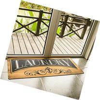 Ustide Wood Print Floor Rug for Laundry Room Cheap Washhouse