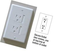 Self-closing 2 Screw Outlet Covers 6-pack