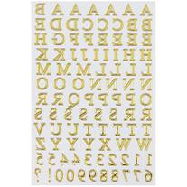 JAM Paper Self Adhesive Alphabet Letters Stickers - Gold - 2