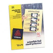 "Avery 73603 9"" X 12"" Self-Adhesive Laminating Sheets 10"