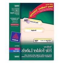 * Self-Adhesive Laser/Inkjet File Folder Labels, Yellow