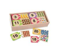 Melissa & Doug Self-Correcting Wooden Number Puzzles With