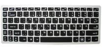 Semi-Black High Quality Ultra Thin Silicone Gel Keyboard