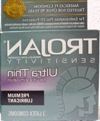 Trojan Sensitivity Ultra Thin Lubricated Latex Condoms - 3