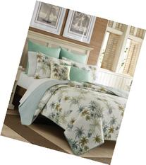 """Tommy Bahama Home Serenity Palms 14"""" Square Embroidered"""
