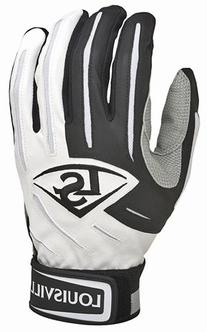 Louisville Slugger BG Series 5 Batting Glove, White/Black,