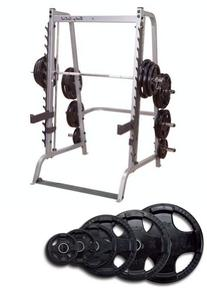 Body Solid Series 7 Smith Machine with 255 lb Rubber Olympic