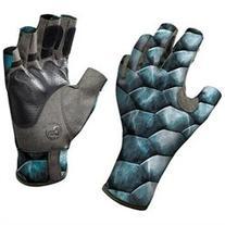 Buff Pro Series Angler II Gloves - XL/XXL - Tarpon Scales