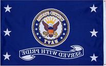 "Navy ""Served With Pride"" MILITARY Flag - 3 foot by 5 foot"
