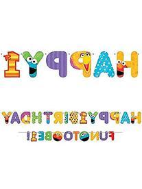 Amscan Bright Sesame Street 1st Birthday Jumbo Letter Banner