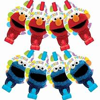 Amscan Sesame Street Blowouts, 8 Count